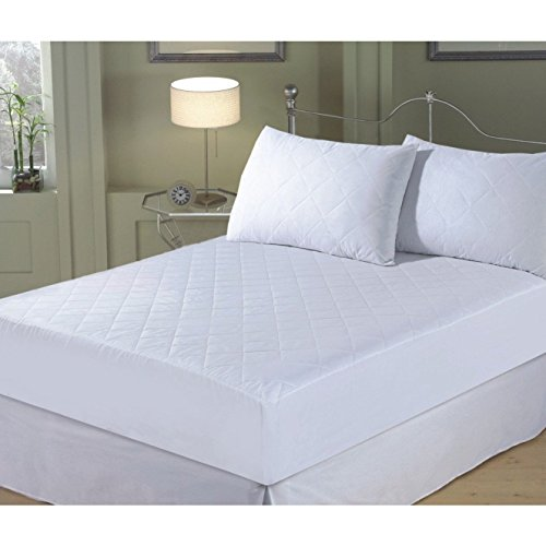 Comfytex Luxury Superior Microfiber Diamond Quilted Mattress Topper (King (70.9in x 78in)) (White) by Comfytex