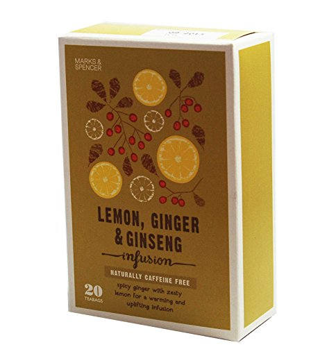 Marks & Spencer Lemon, Ginger & Ginseng Infusion - 20 Teabags (from the UK) - Ginger Infusion