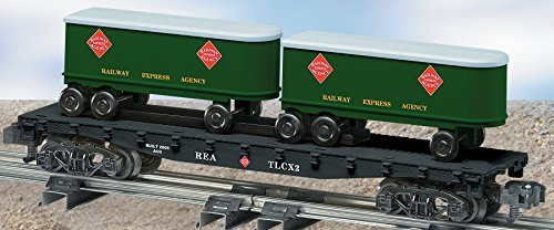 Piggyback Flat Car with Trailers, REA, American Flyer, 6-48539