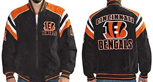 Cincinnati Bengals Suede Leather Jacket NFL - XXL