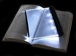 Paperback LED Light Wedge Panel Book Reading Lamp
