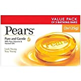 Pears Pure and Gentle Soap Bar, 125g (Pack of 3)