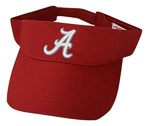 Alabama Crimson Tide Adult Team Logo Visor, Crimson by National Cap
