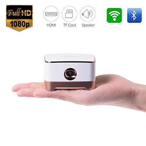 Mengen88 Mini-Video-Projektor, LED Multimedia Movie Projector kann bis zu 200 Zoll Support 1080P HDMI Vga Av USB Ideal…