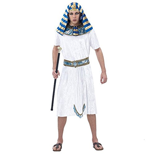 Fanala White Egyptian Pharaoh Cleopatra Adult Halloween Costumes Family or Group (Men, White) (Pregnant Girl Costumes)