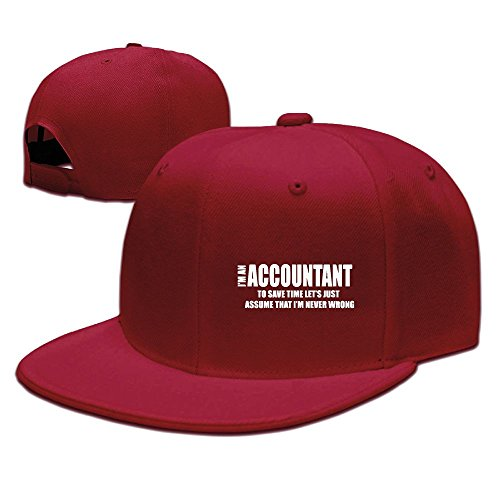 XiaoHans Mens I Am Accountant Fashion Football Red Caps Hats Adjustable - Ferrari Cost Red