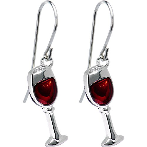 Body Candy Stainless Steel Red Wine Glass (Wine Glass Earrings)