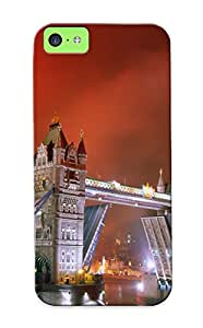 Alta calidad Blh223nmWHD iluminar la noche Tower Bridge Tpu Funda para iPhone 5 C