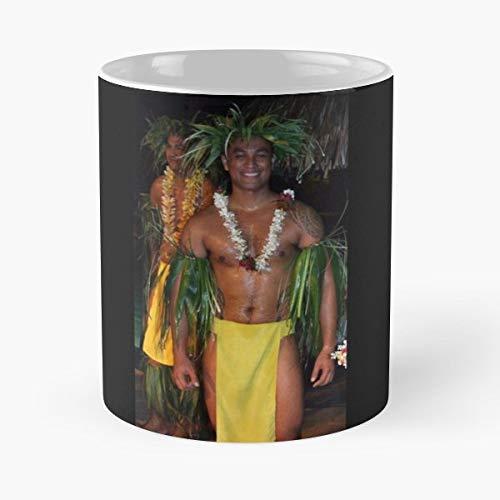 Tahiti Men Dancer - Ceramic - Tahiti Beverage Tumbler