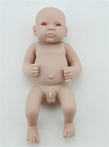 Wamdoll 10inch Unpainted Blank Reborn Doll Kit Soft Full Body Silicone Doll Limbs and Body Parts