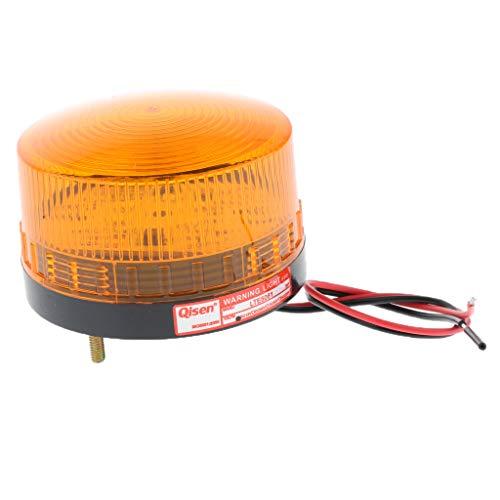SM SunniMix DC12V Amber Signal Industrial Tower Advertencia Intermitente Lámpara De Alarma De Luz De Baliza /