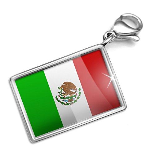 Mexican Set Bracelet - Clip on Charm & Bracelet Set Mexican Flag Lobster Clasp
