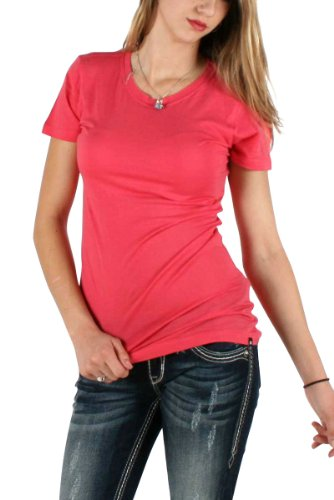 Hurley - Juniors Solid Cutout Short Sleeve T-Shirt, Size: X-Small, Color: SWEDISH RED