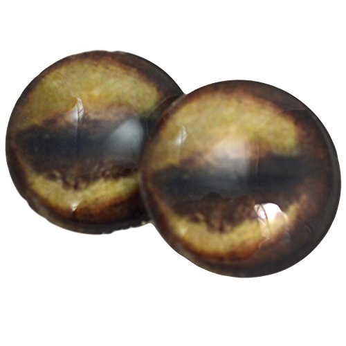 - Megan's Beaded Designs 40mm Glass Antelope Eyes Animal Pair Realistic Taxidermy Sculptures or Jewelry Making Crafts Set of 2,brown
