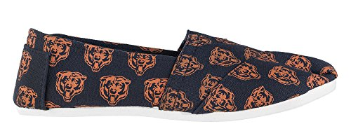 Bears Shoes Pick Chicago On Womens Canvas Football Team 2015 Collectibles Forever Summer Ladies Slip NFL axC66p