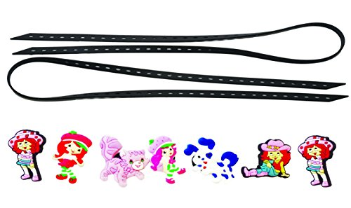 [AVIRGO Universal Elastic Shoelaces with 7 pcs Buckles Adjustable Size Black Set # 101-10] (Amazing Spider Man Pc Costumes)
