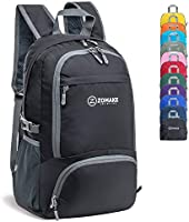 ZOMAKE 30L Lightweight Packable Backpack Water Resistant Hiking Daypack,Small