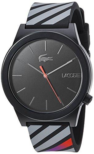 Lacoste Men's 'Motion' Quartz Plastic and Rubber Casual Watch, Color:Black (Model: 2010936)