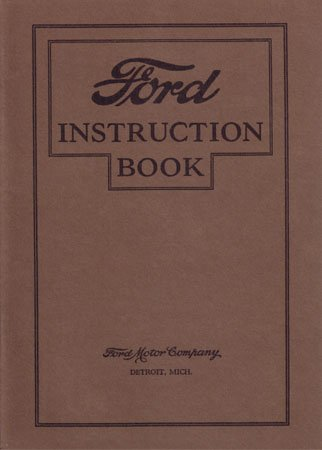 1927 FORD MODEL T Owners Manual User Guide
