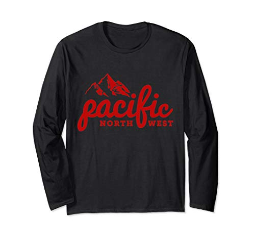 Pacific Northwest Outdoors Trees Mountain PNW Long Sleeve T-Shirt