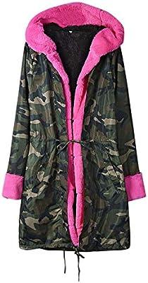 AOJIAN Women Jacket Long Sleeve Outwear Hooded Faux Fur Lace Up Pocket Parka Overcoat Coat