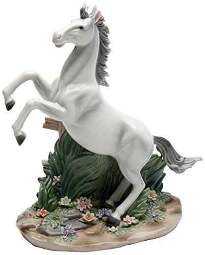 (Cosmos Gifts 20847 White Beauty Ceramic Horse Figurine, 11-Inch)