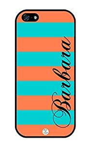iZERCASE Personalized Turquoise and Coral Stripes Pattern iphone 5 case - Fits iphone 5, iPhone 5S T-Mobile, AT&T, Sprint, Verizon and International