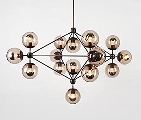 10 Globe Jason Miller Modo Chandelier Replica Light Lamp