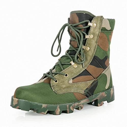 NXYR Botas Militares Zapatos Tácticos Fuerzas Especiales Bota Militares Ultraligeras Zapatos para Hombre Primavera Y Otoño Al Aire Libre Senderismo Alto para Ayudar Usar Ropa Transpirable,JungleCamou