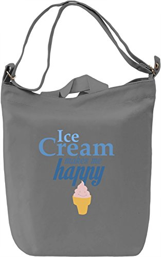 Ice cream makes me happy Borsa Giornaliera Canvas Canvas Day Bag| 100% Premium Cotton Canvas| DTG Printing|