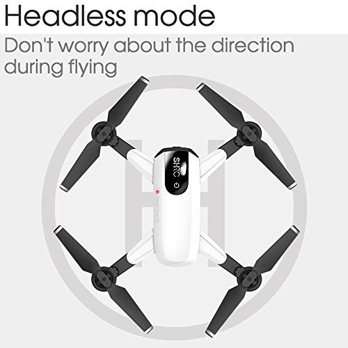 LikeroDrone x pro 5G Selfi WiFi FPV GPS,with 1080P HD Camera,Foldable RC Quadcopter,Beginners-Controlled Through The Mobile Phone App-One-Key Start&one-Key Landing (White) by Likero (Image #4)