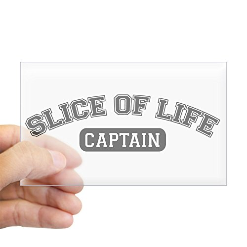 CafePress Slice Of Life Captain Rectangle Sticker Rectangle Bumper Sticker Car Decal