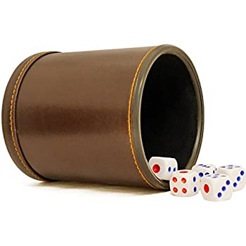 Amazoncom Dice Cup Leather Looking Vinyl Felt Lined Interior - Vinyl dice cup