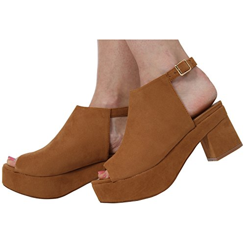 MID Sandales Chaussures New Toe COLLECTION Tan Suede Open Ladies 8 Taille Block Womens 3 Talon CORE Cheville Strap xn0gpqwfPx