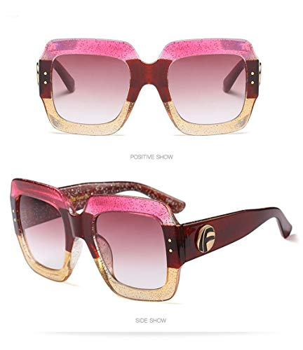C5 Ligero Retro Cuadrados Espejo Fliegend Sol Polarizadas Hombre Gafas Sol de Vintage de Mujer Súper UV400 Lente Gafas Gafas Unisex wxUvR4HU