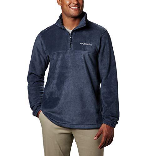 Columbia Men's Steens Mountain Half Zip Fleece, Collegiate Navy, Large (Mens Sweater Quarter Zip)