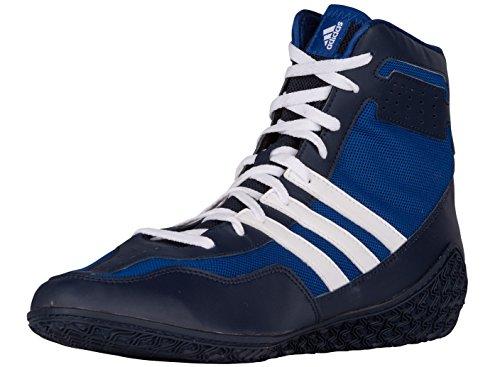Adidas Performance Mens Scarpe Mat Wrestling Wizard.3 Royal / Bianco / Navy