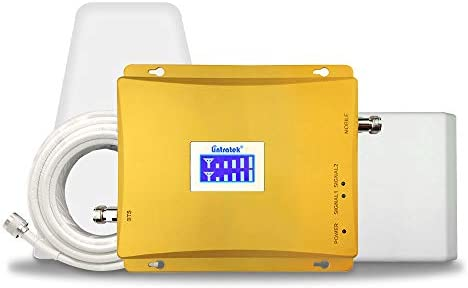 Lintratek携帯電話信号ブースター 3G 4G 800/2100MHz携帯電話信号増幅器65dBバンド19 バンド1信号ブースターフルセットNTTDocomo、KIDDau、Softbankユーザーに適用