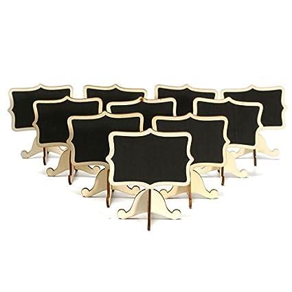 Pizarras identificativas con soporte 10 unds invitados en ...