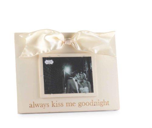 Mud Pie Always Kiss/Good Night Linen Photo Frame (Best Good Night Photos)