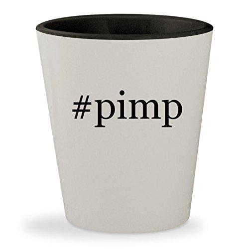#pimp - Hashtag White Outer & Black Inner Ceramic 1.5oz Shot Glass (Ps3 My Pimp Ride)