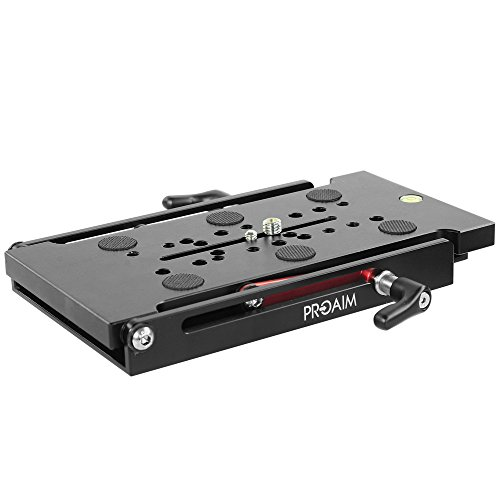 Proaim Big Multi-Angle Leveling Wedge Plate |Camera Adapter Sliding Base Plate | Adjustable Quick Release Tripod Mounting Plate for Heavy Cameras up to 20kg/44lbs (P-MWP-B) by PROAIM