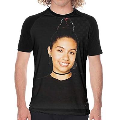 Alessia-Cara Men's T-Shirt 3D Pattern Printed Casual Short Sleeve Tee Shirt Black