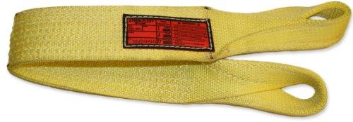 Stren-Flex-EET2-903-3-Type-4-Heavy-Duty-Nylon-Twisted-Eye-and-Eye-Web-Sling-2-Ply-8900-lbs-Vertical-Load-Capacity-3-Length-x-3-Width-Yellow