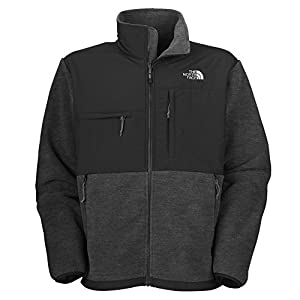 The North Face Men's Full Zip Denali Jacket, Charcoal Grey Heather, Large by The North Face