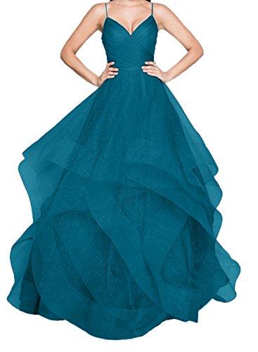 Promkleider Spaghetti Abendkleider Traeger Blau Linie Brautmutterkleider Dunkel Ballkleider Lila Ausschnitt Charmant V A Damen xpzIwq1nT