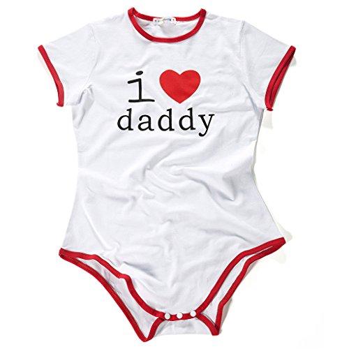 f011deb2d999 Littleforbig Adult Baby Onesie Diaper Lover (ABDL) Snap Crotch Romper  Onesie Pajamas - I