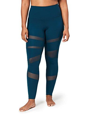 Core 10 Women's Icon Series - The Warrior Mesh Plus Size Legging, marine, 3X
