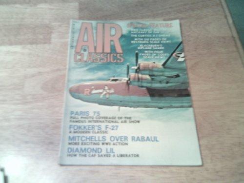 B-25 Mitchell Bomber over Rabaul on cover-Air Classics magazine, December 1975 - Mitchell Medium Bomber