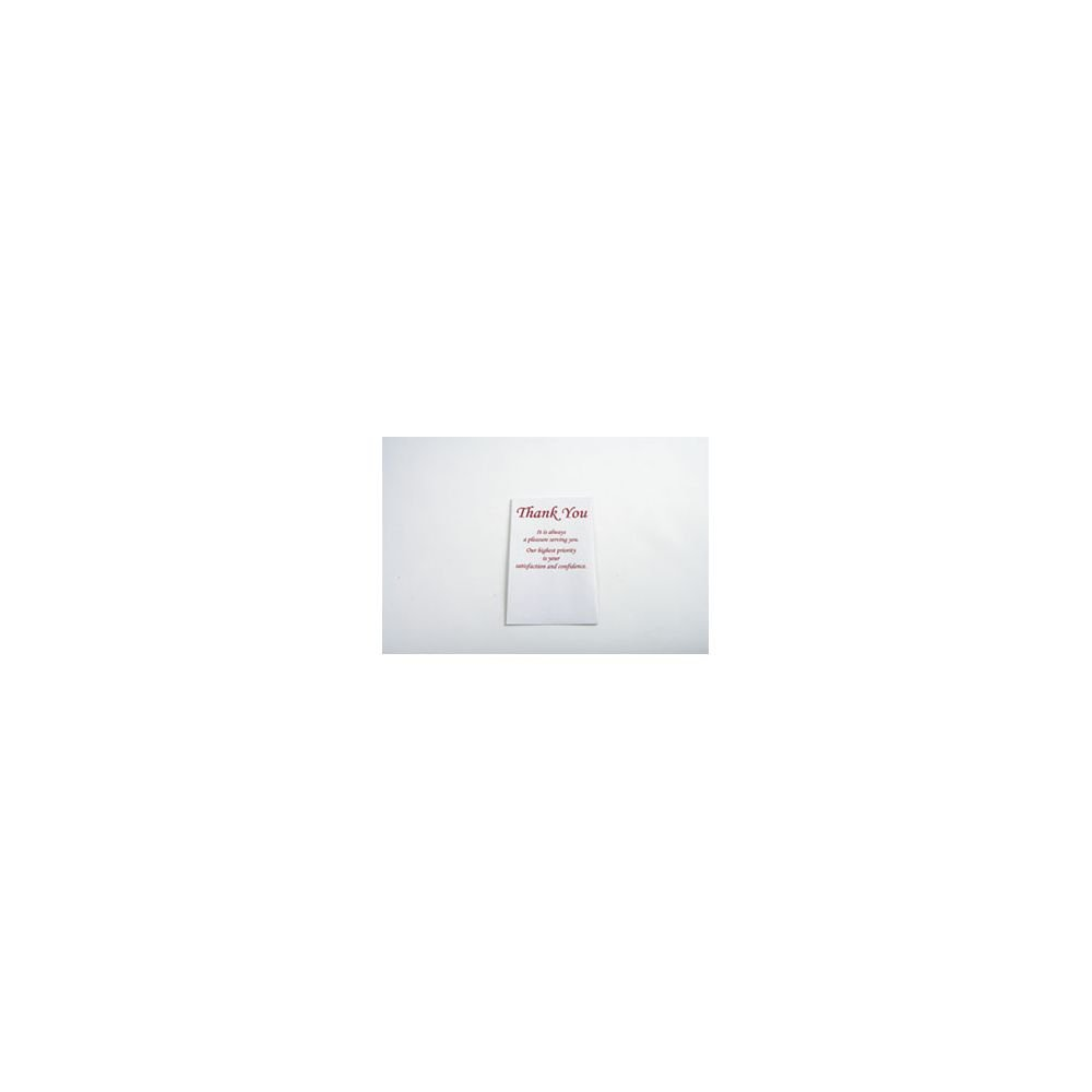 ''Thank You'' Envelopes Burgundy Ink Pack of 250